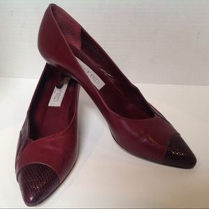enrico designer Italian leather size 7N heels